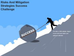 Risks And Mitigation Strategies Success Challenge Powerpoint Slides Design