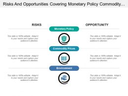 Risks And Opportunities Covering Monetary Policy Commodity And Environment