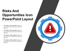 Risks And Opportunities Icon Powerpoint Layout