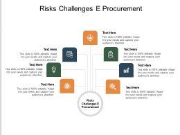 Risks Challenges E Procurement Ppt Powerpoint Presentation Ideas Format Ideas Cpb