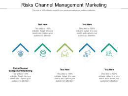 Risks Channel Management Marketing Ppt Powerpoint Presentation Layouts Layout Cpb