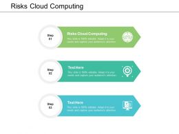 Risks Cloud Computing Ppt Powerpoint Presentation File Background Cpb