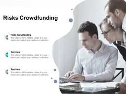 Risks Crowdfunding Ppt Powerpoint Presentation Layouts Icons Cpb