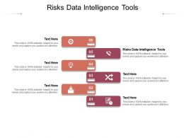 Risks Data Intelligence Tools Ppt Powerpoint Presentation Visual Aids Deck Cpb