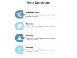 Risks Debentures Ppt Powerpoint Presentation Layouts Aids Cpb