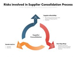 Risks Involved In Supplier Consolidation Process