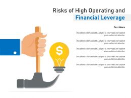 Risks Of High Operating And Financial Leverage