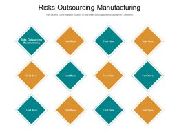 Risks Outsourcing Manufacturing Ppt Powerpoint Presentation Styles Layouts Cpb
