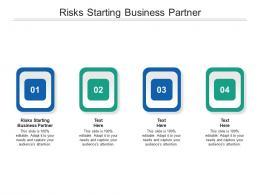 Risks Starting Business Partner Ppt Powerpoint Presentation Gallery Summary Cpb