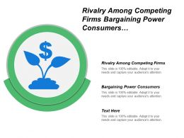 Rivalry Among Competing Firms Bargaining Power Consumers Ideas Evaluations
