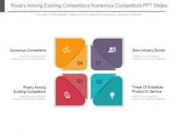 Rivalry Among Existing Competitors Numerous Competitors Ppt Slides