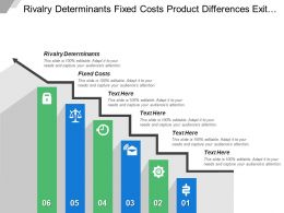 Rivalry Determinants Fixed Costs Product Differences Exit Barriers