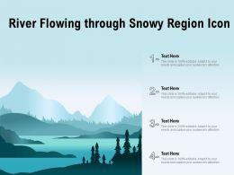 River Flowing Through Snowy Region Icon