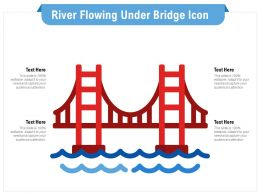 River Flowing Under Bridge Icon