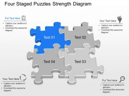 Rj Four Staged Puzzles Strength Diagram Powerpoint Template