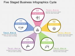 rm Five Staged Business Infographics Cycle Flat Powerpoint Design