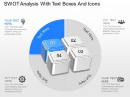 Ro Swot Analysis With Text Boxes And Icons Powerpoint Template