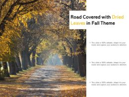 Road Covered With Dried Leaves In Fall Theme