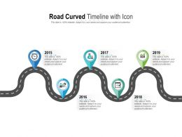 Road Curved Timeline With Icon