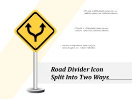 Road Divider Icon Split Into Two Ways