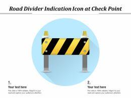 Road Divider Indication Icon At Check Point