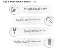 Road Flag Magnifier Key Roadmap Ppt Icons Graphics