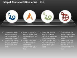Road Location Direction Indication Global Location Navigation Ppt Icons Graphics