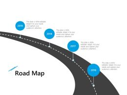 Road Map 2016 To 2019 L928 Ppt Powerpoint Presentation Slides Template