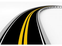 Road Map With Yellow Lines For Business Stock Photo