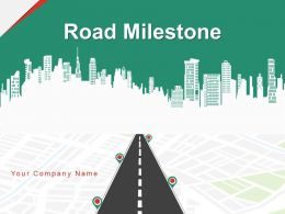 Road Milestone Business Management Process Planning Marketing Achieve Success