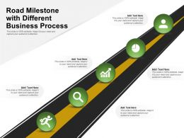 Road Milestone With Different Business Process
