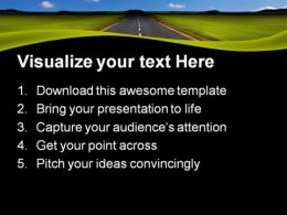 Road Nature PowerPoint Templates And PowerPoint Backgrounds 0811  Presentation Themes and Graphics Slide02