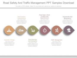 Road Safety And Traffic Management Ppt Samples Download