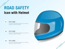 Road Safety Icon With Helmet