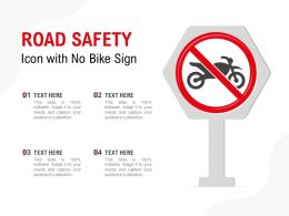 Road Safety Icon With No Bike Sign