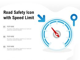 Road Safety Icon With Speed Limit