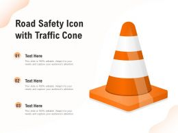 Road Safety Icon With Traffic Cone