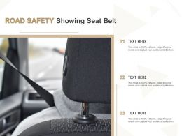 Road Safety Showing Seat Belt
