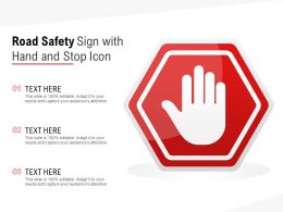 Road Safety Sign With Hand And Stop Icon
