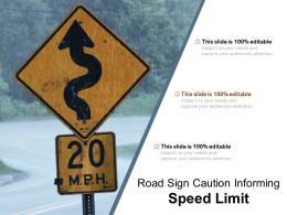 Road Sign Caution Informing Speed Limit