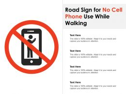 Road Sign For No Cell Phone Use While Walking