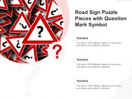 Road Sign Puzzle Pieces With Question Mark Symbol