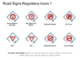Road Signs Regulatory Icons 1 Powerpoint Images