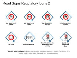 Road Signs Regulatory Icons 2 Powerpoint Layout