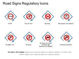 Road Signs Regulatory Icons Powerpoint Presentation