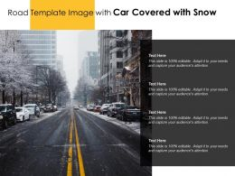 Road Template Image With Car Covered With Snow