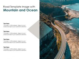 Road Template Image With Mountain And Ocean
