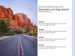 Road Template Image With Mountain And Sign Board