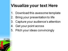 Road To Success Metaphor PowerPoint Templates And PowerPoint Backgrounds 0511  Presentation Themes and Graphics Slide03