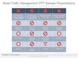 Road Traffic Management Ppt Sample Presentations